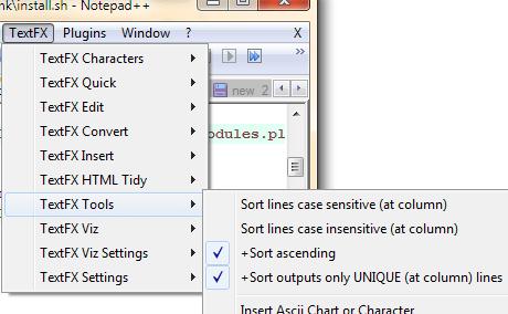 Loại bỏ dữ liệu trùng nhau bằng Notepad ++