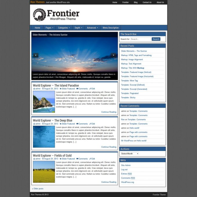 frontier-theme-2-columns