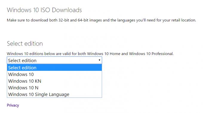 Bình thường MicriSoft chỉ cho download Windows 10.