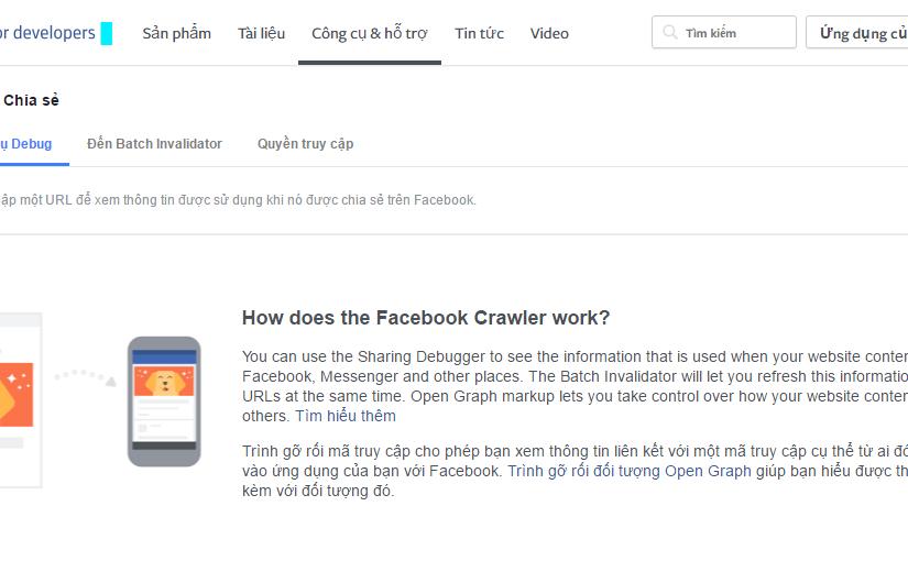 Cách cập nhật lại cache URL đã lưu trên Facebook